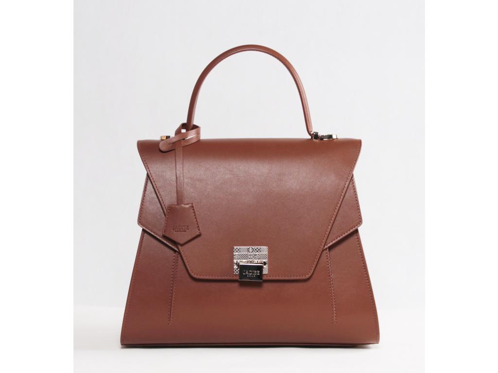 Luxusní kožená kabelka JADISE, Sabrina hnědá