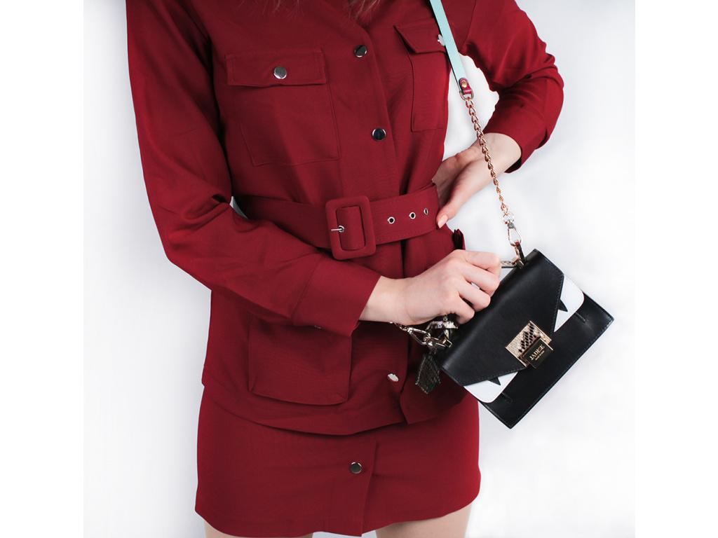 Luxusní kabelka JADISE Lily - Piton, černá/hadí kůže