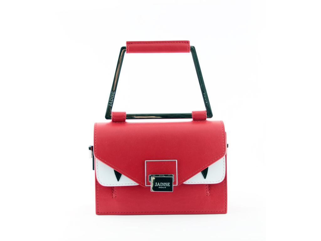 kabelka Jadise Lily červená hladká