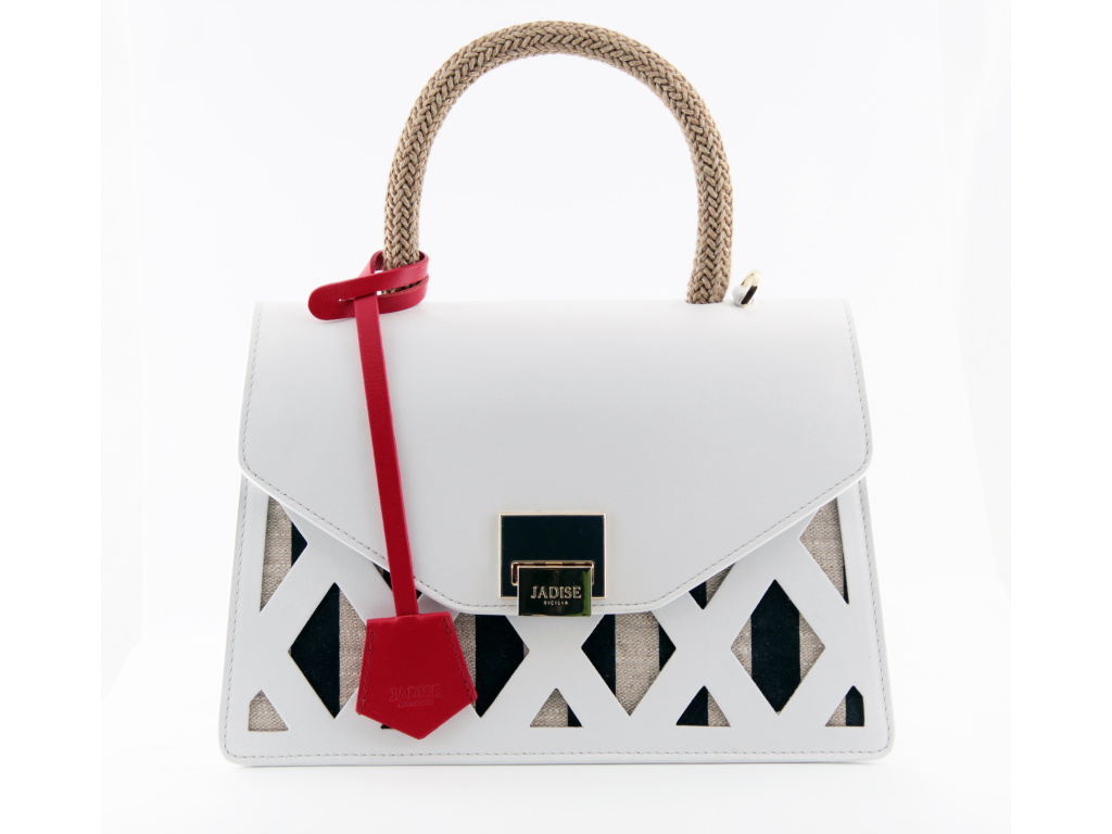 254 3 luxusni kabelka jadise kate bila modra cervena