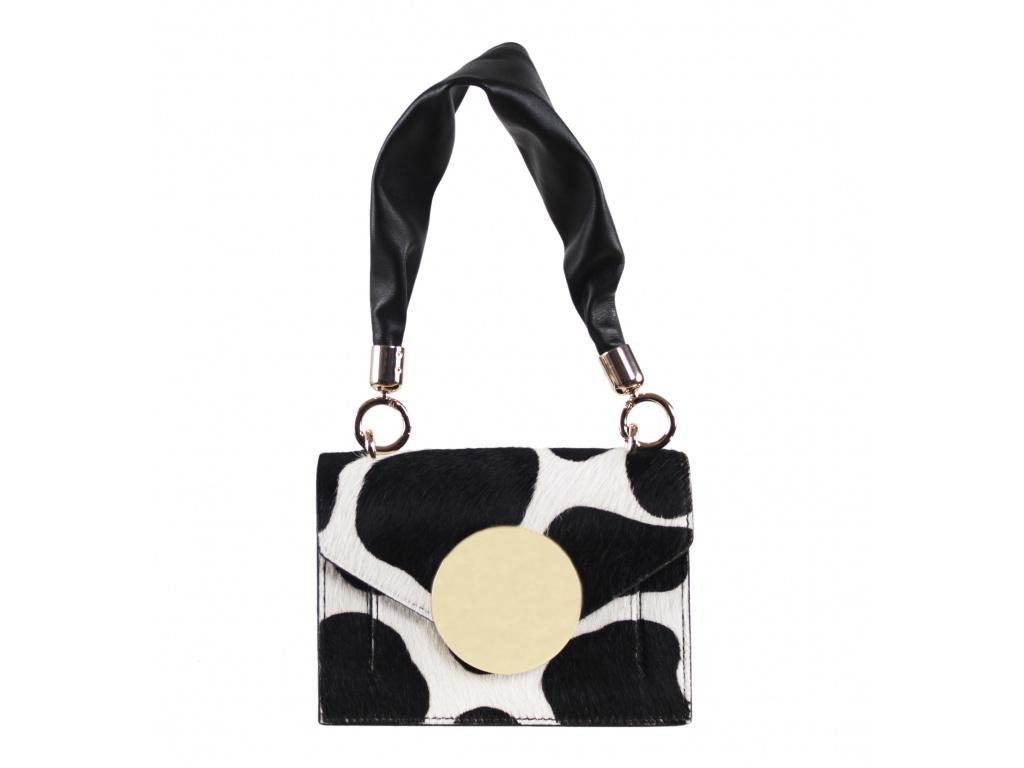 Luxusní kabelka JADISE Lily - černá/bílá Cavallino