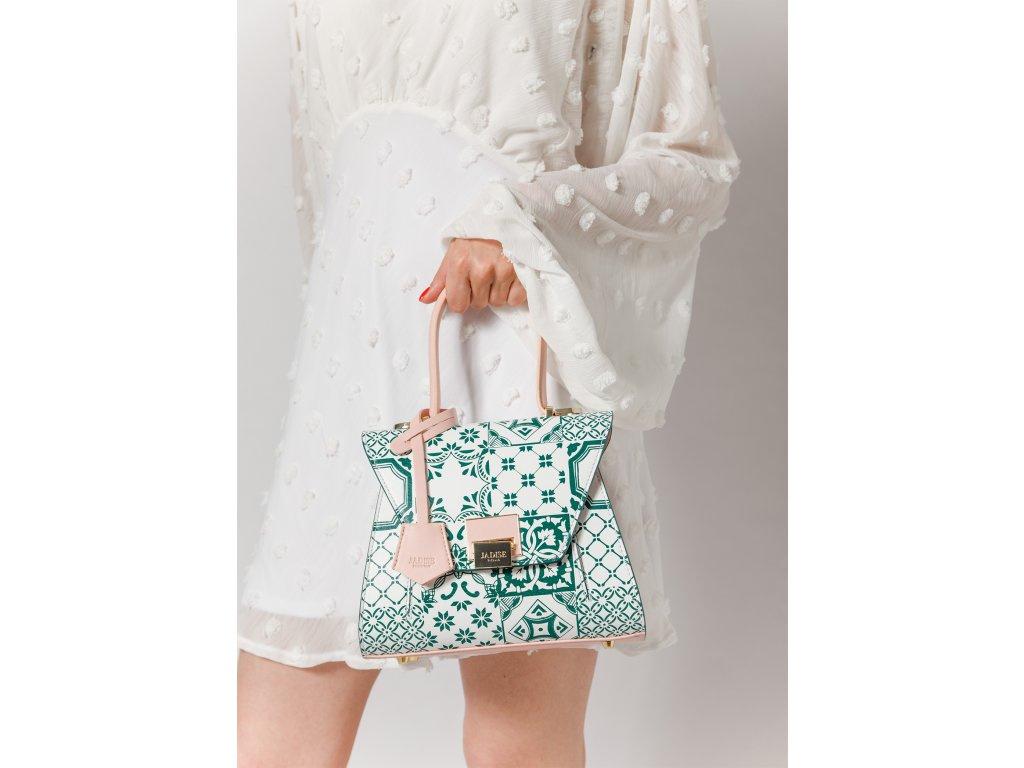 luxusni-kozena-kabelka-jadise--sabrina-mala-s-majolikou-zelena-ruzova