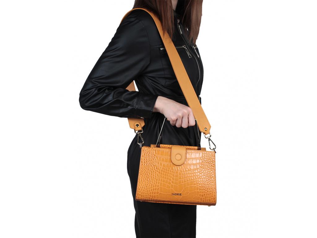 Luxusní kabelka Jadise Adele COCCO okrová
