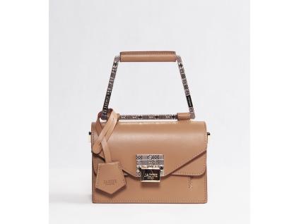 luxusni-kabelka-jadise--lilly-s-hranatou-rukojeti-cappucino