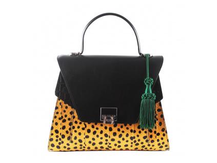 luxusni-kozena-kabelka-jadise--sabrina-teckovana-cernozluta