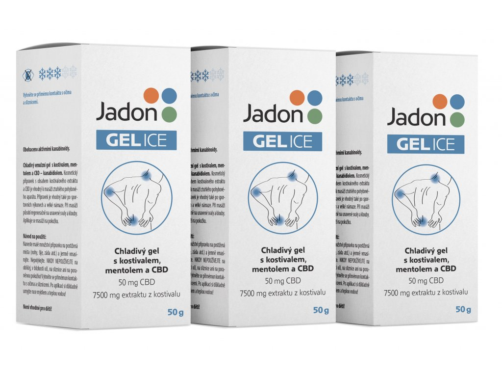 Jadon GEL ICE chladivý gel s kostivalem, mentolem a CBD 50g MNOŽSTEVNÍ SLEVA