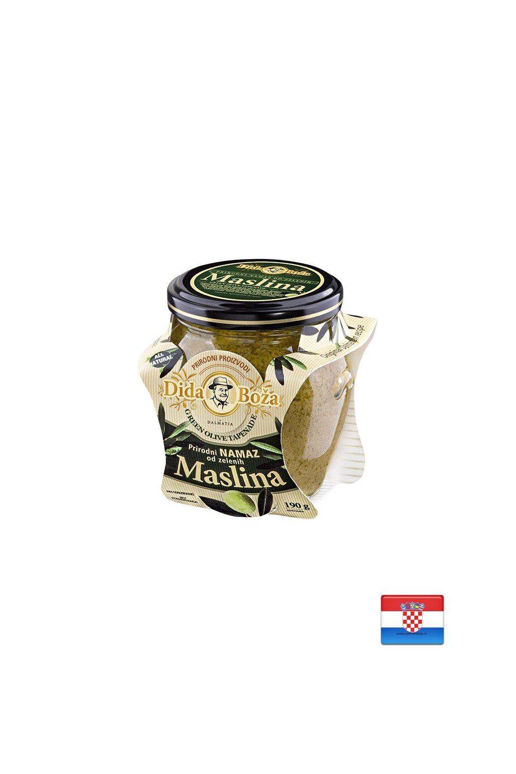Pasta z zielonych oliwek 96% 240g