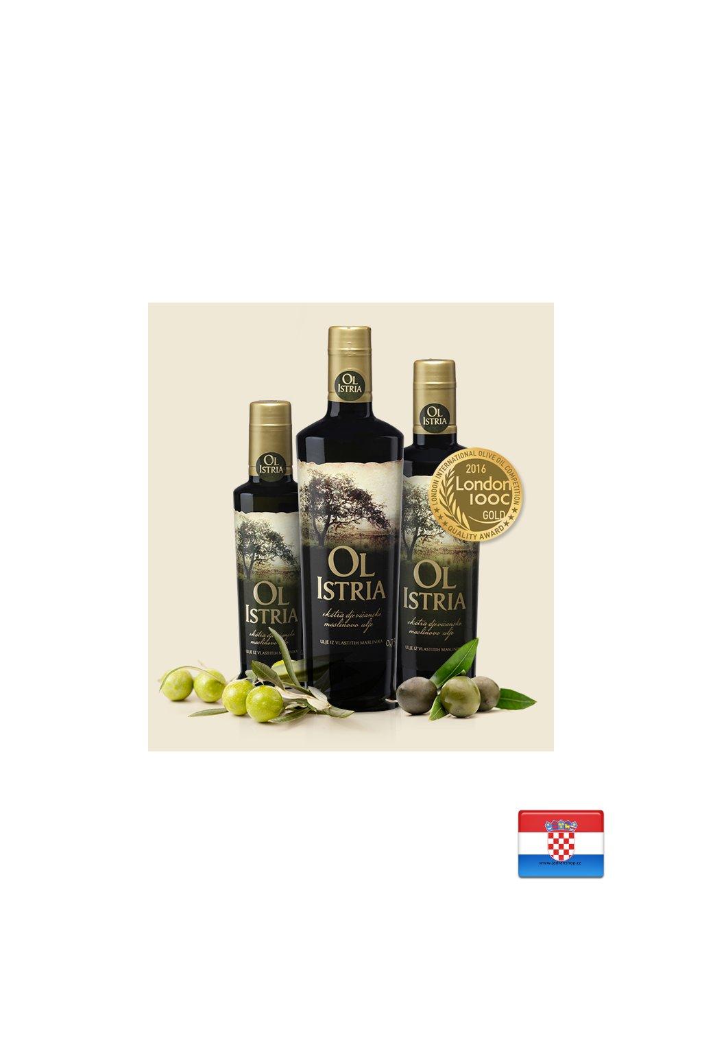 Oliwa z oliwek z pierwszego tłoczenia 0,5l  Oliwa Ol Istra (rok prod. 2020)