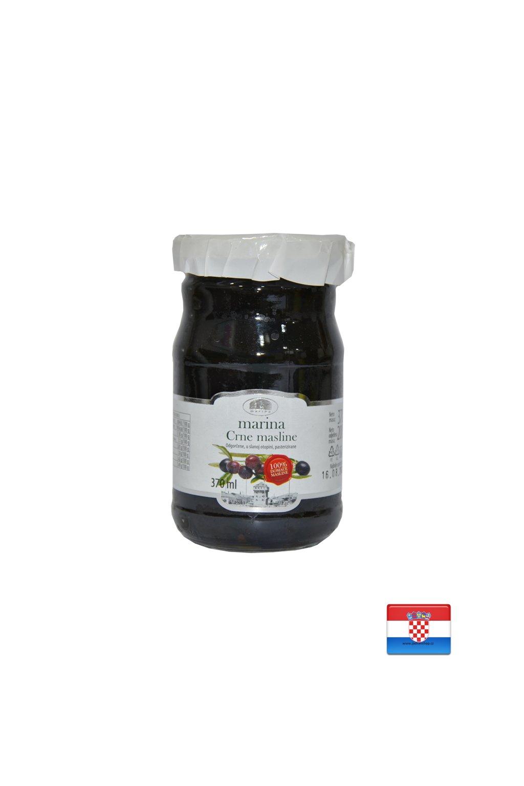 Oliwki czarne z pestką 370g