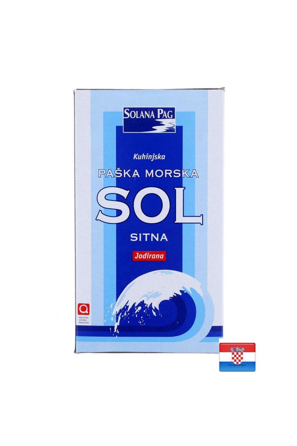 Drobna sól morska z jodem 1kg