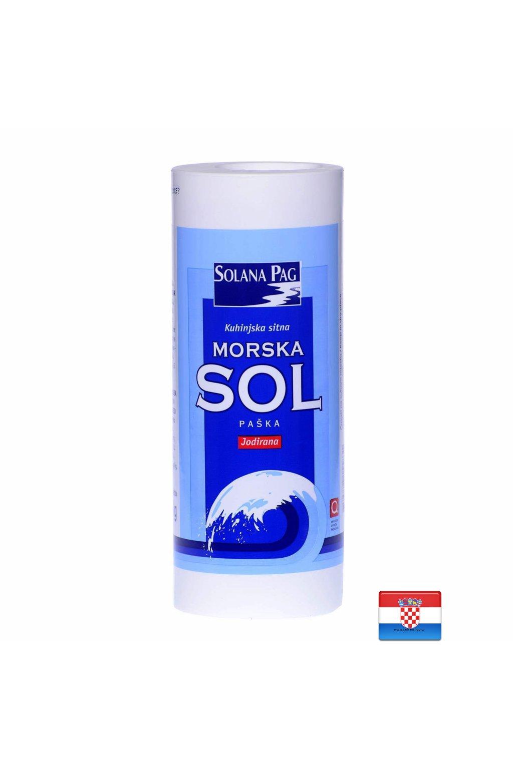 Drobna sól morska z jodem 450g