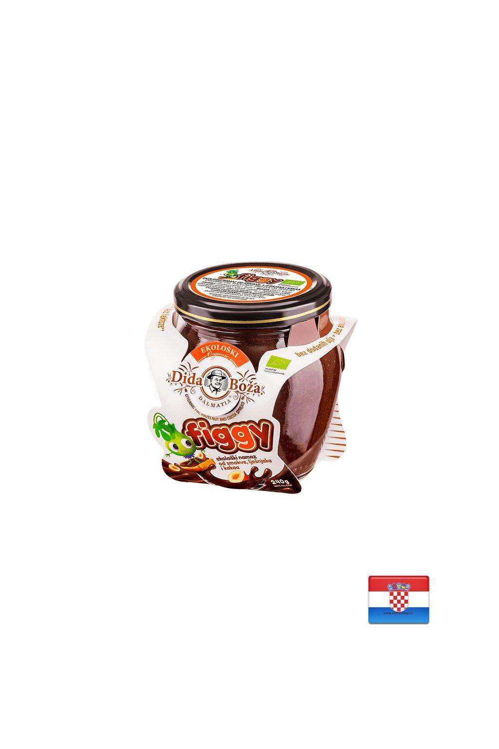 Dżem figowy z kakao i orzechami laskowymi EKO 240g