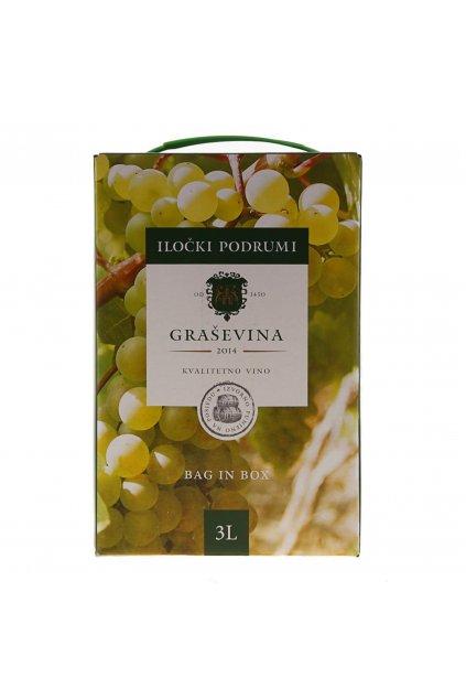 Wino białe wytrawne Graševina 3l