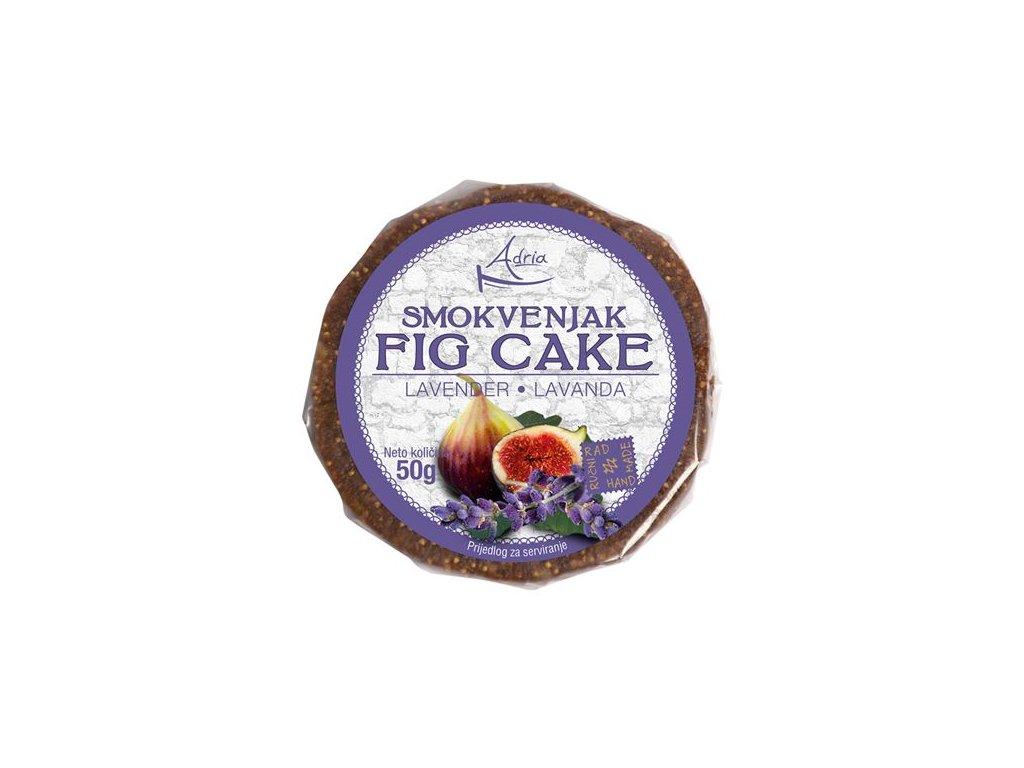 Figový koláčik s levanduľou 50g (hand made)