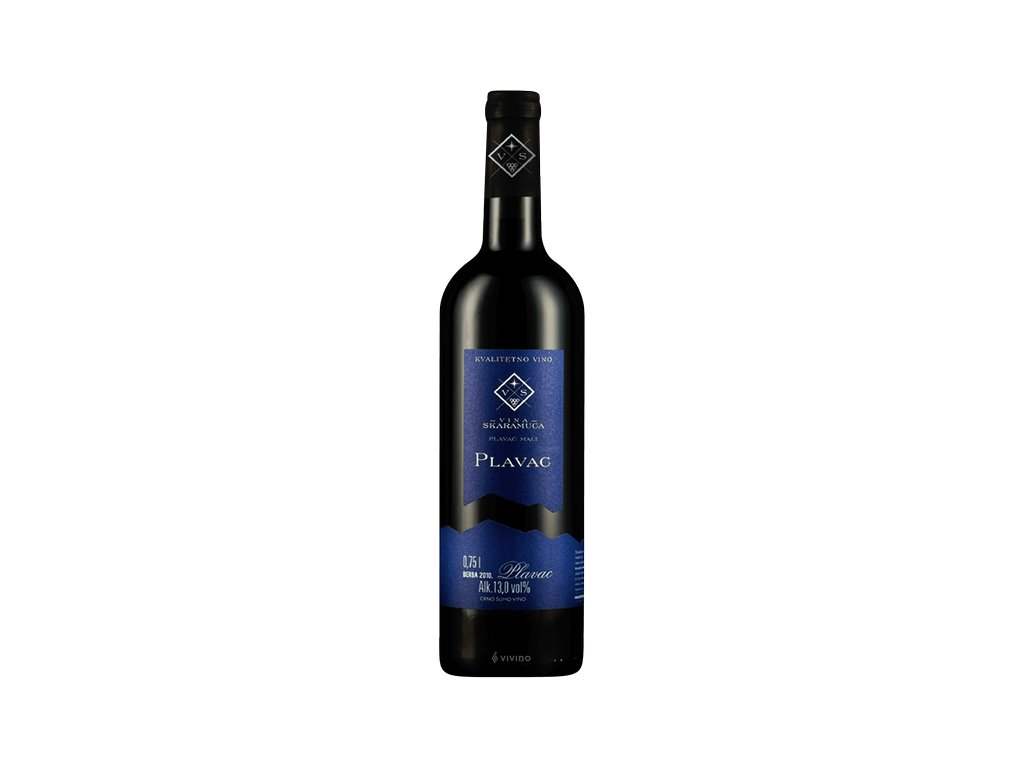 Plavac mali červené suché víno 0,75l (r.2019)