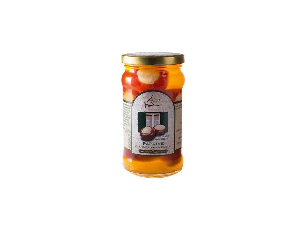 Papričky plnené syrom 280g