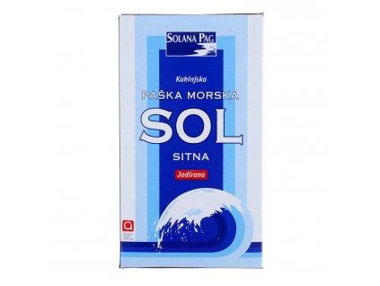 Morská soľ jemná s jódom 1 kg (Paška soľ)