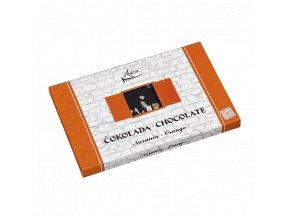 Čokoláda s pomarančom min. 72% kakaa 50g (hand made)