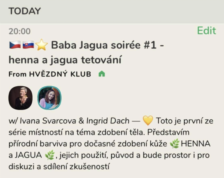 BABA JAGUA SOIRÉE #1 ROZCESTNÍK