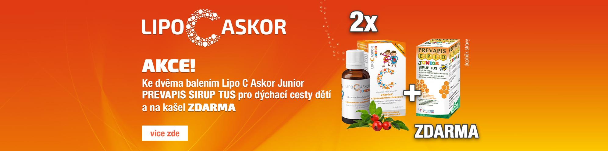 Balíček Lipo C Askor Junior + Prevapis junior Tus