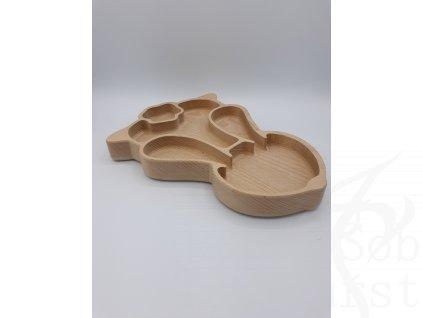 dřevěný hluboký talířek