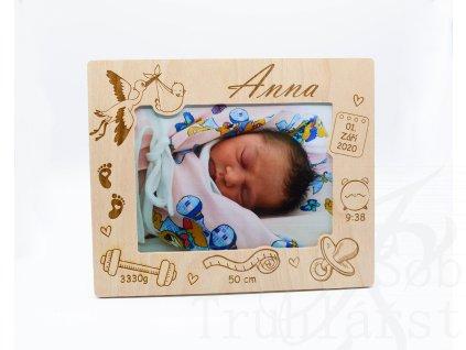 newborn, fotorámeček, rámeček fotka