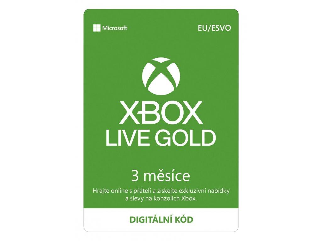 ESD XBOX - Xbox Live Gold - 3 mesiace