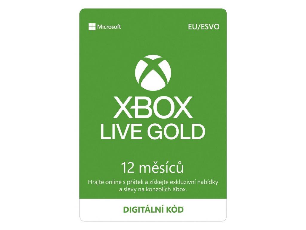 ESD XBOX - Xbox Live Gold - 12 mesiacov