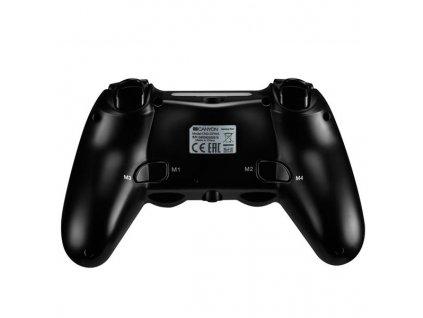 Canyon CND-GPW5 Gamepad pre PS4, bezdrôtový, touchpad, vibrácie, gumový poťah,