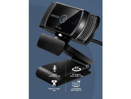Canyon CNS-CWC5 webkamera, Full HD 1080p, Live Streaming, 2.0 Mpixel, USB 2.0, 360° rozsah, mikrofón