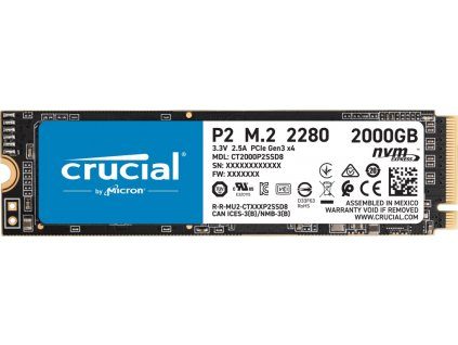 CRUCIAL P2 2TB M.2 NVMe 2400/1900MB/s