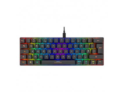 DELTACO GAM-075-UK USB RGB Herná klavesnica