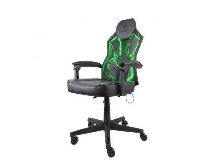 DELTACO GAM-086 RGB Herná stolička - Black