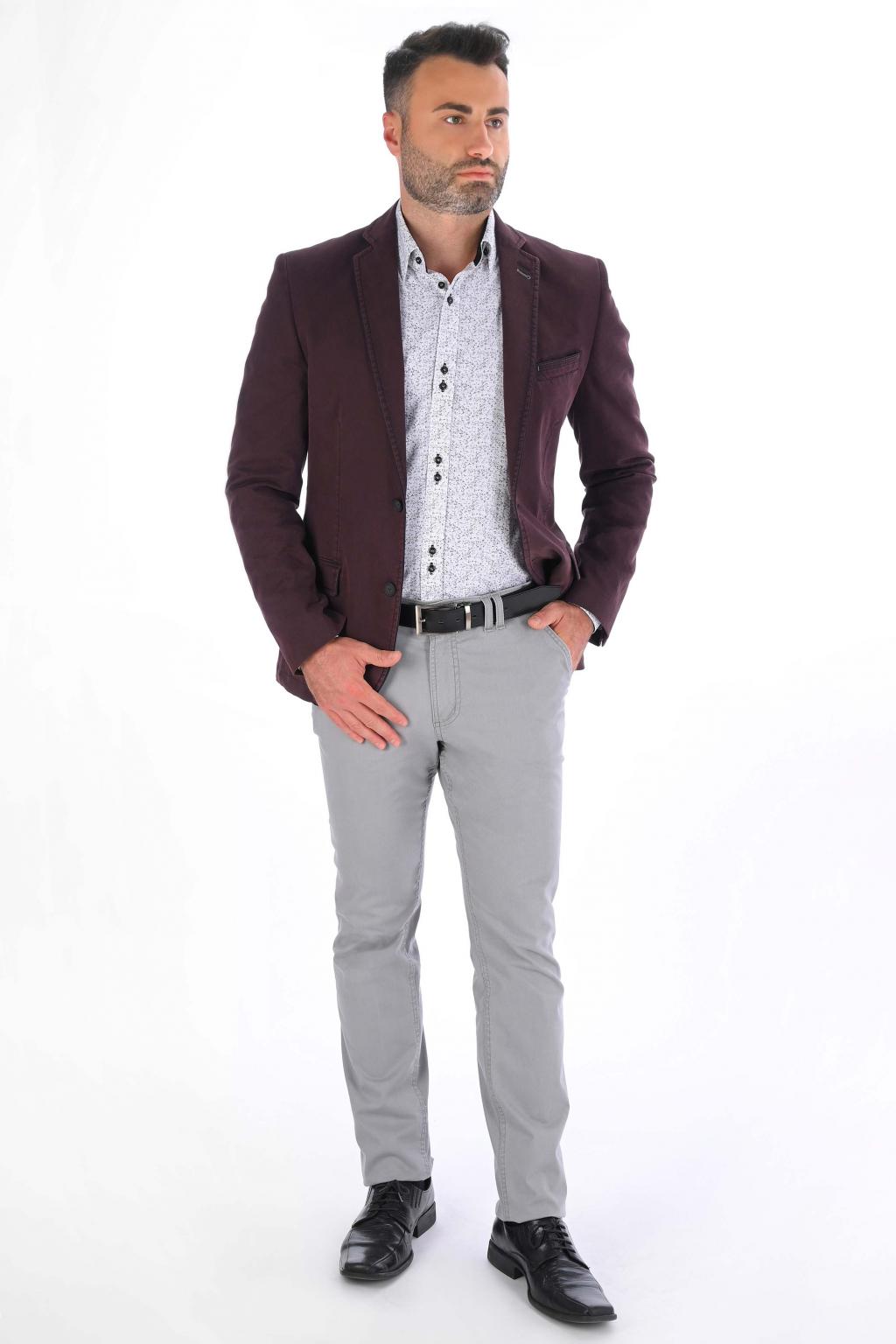 Sivé nohavice Chinos  ULTRA SLIM strih, bavlna stretch