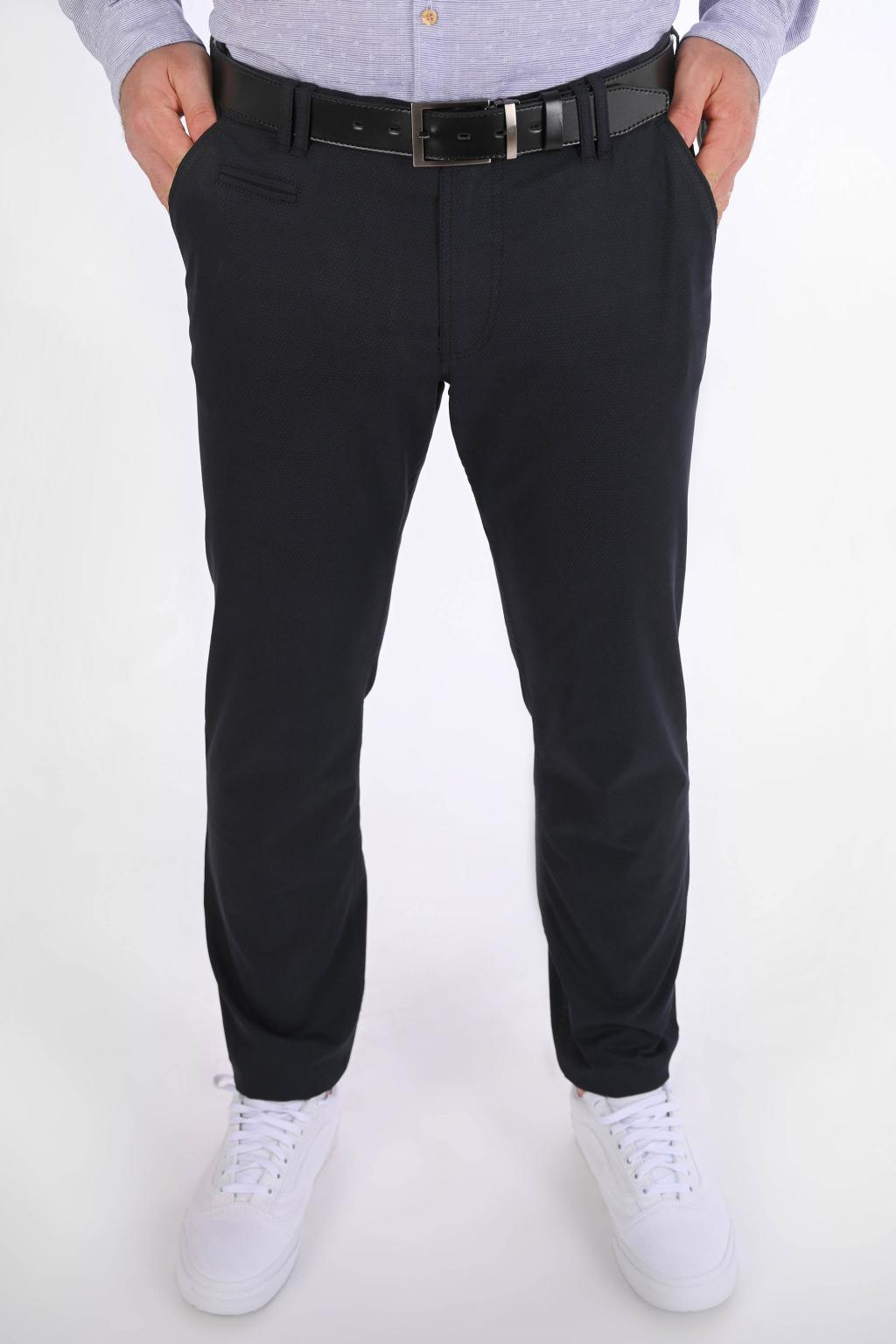 Sivo-čierne nohavice Chinos  ULTRA SLIM strih, bavlna stretch