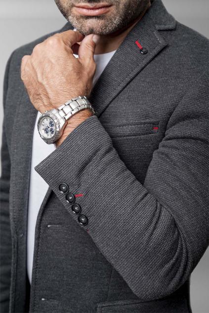 Úpletové sako s elastanom