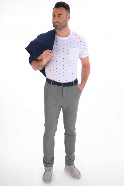 Šedosivé nohavice Chinos SLIM strih, klasické