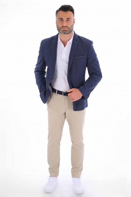 Bežové nohavice Chinos ULTRA SLIM strih, bavlna stretch