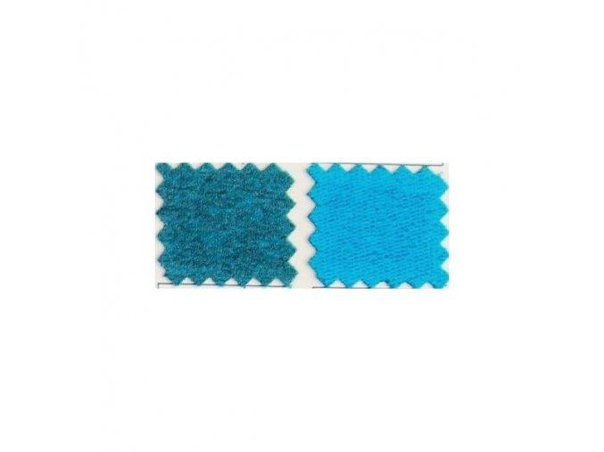Elastická nepočesaná teplákovina 290g - TYRKYSOVÝ MELÍR