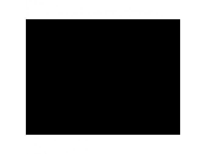 Elastický výplněk - teplákovina (nepočesaná) - ČERNÁ