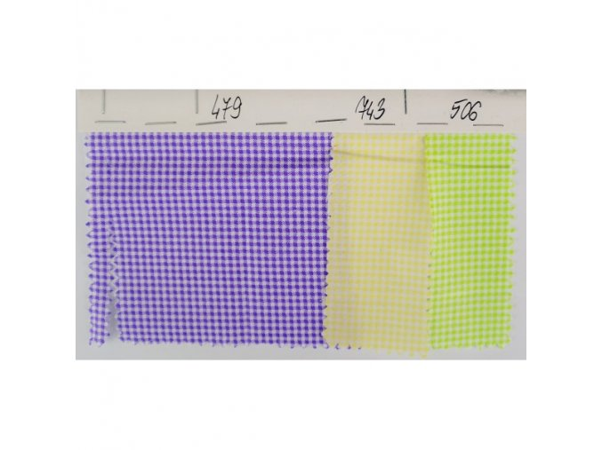 Bavlna 100% - tkanina + tisk - Drobné pepitko