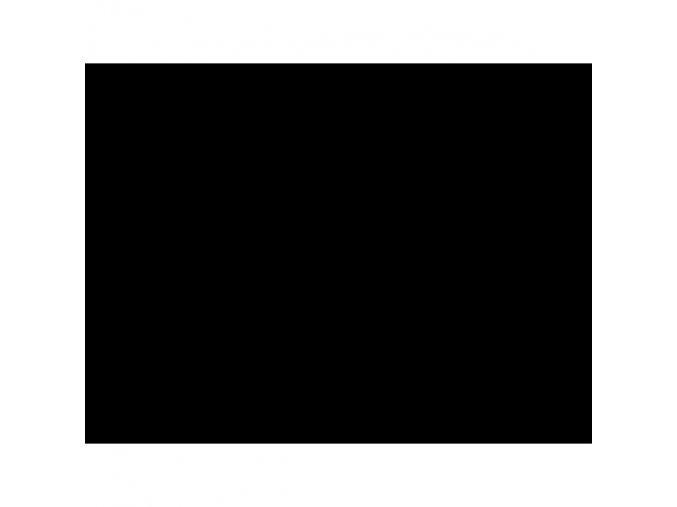 Počesaný úplet - 3lícný 300g - ČERNÝ