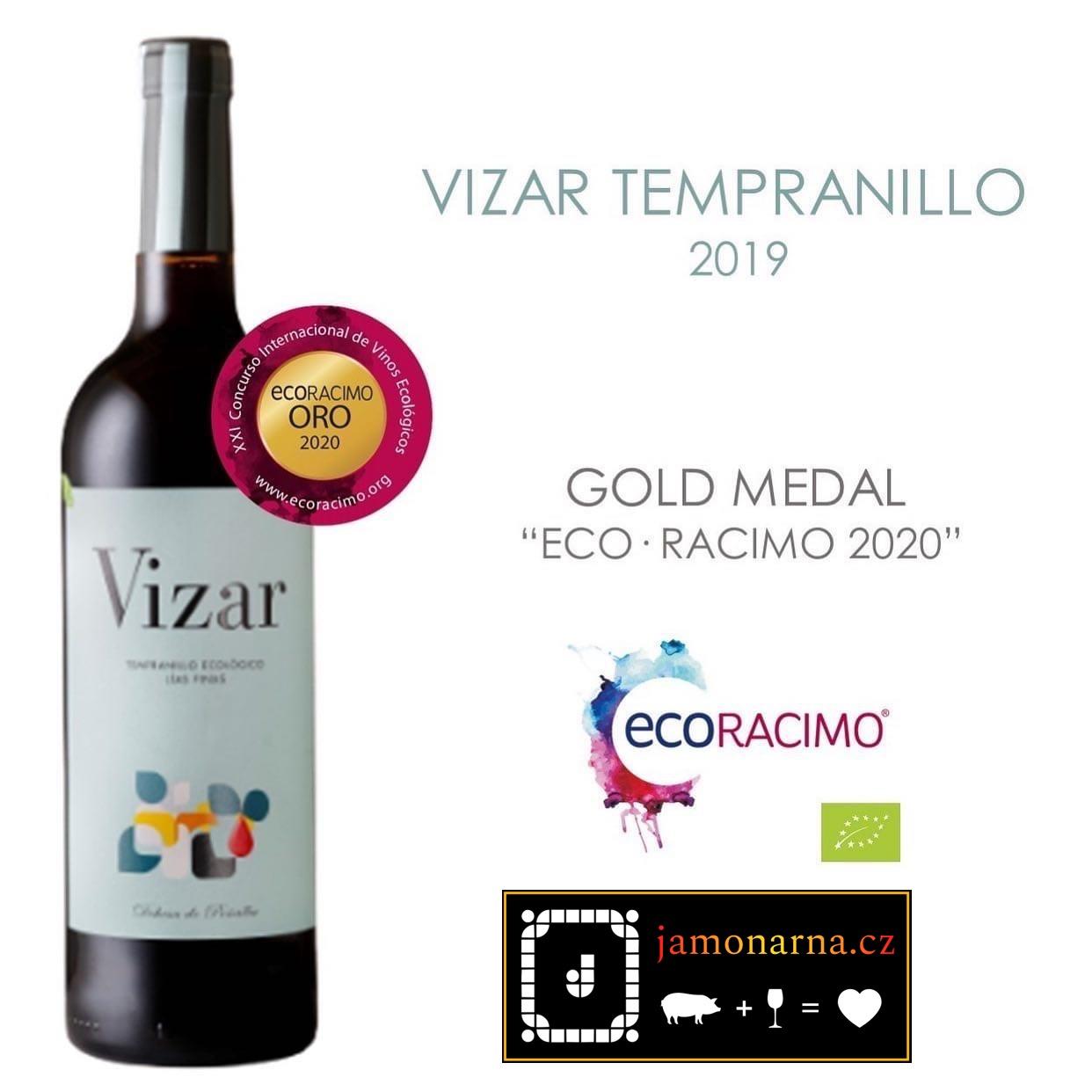 Vizar Tempranillo 2019 Zlatá mediale