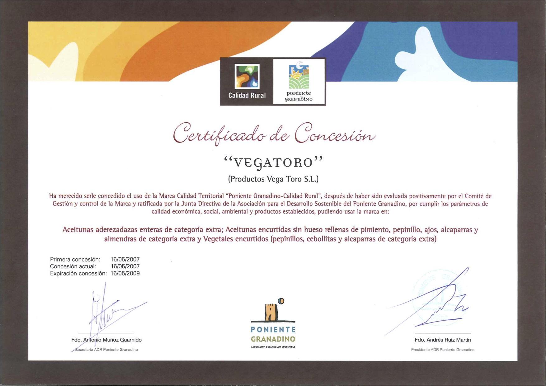 vegatoro-certificado-calidad-rural