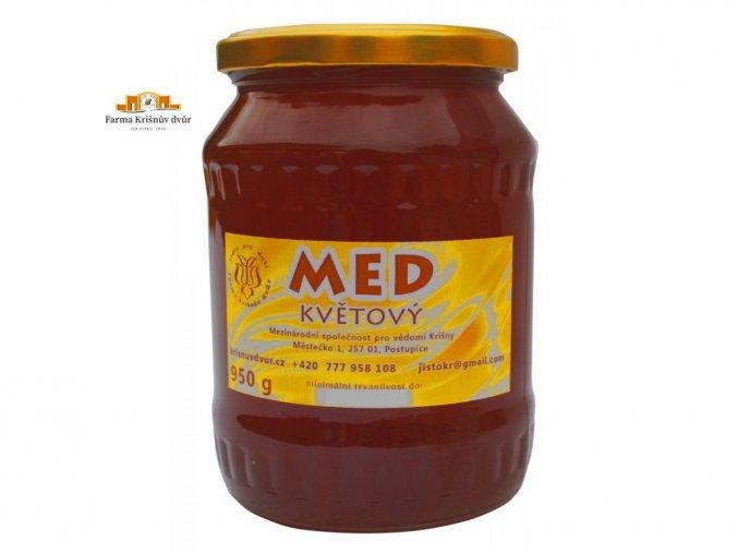 Čerstvý farmářský med - květový 950g