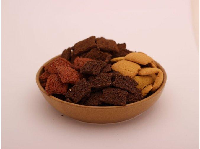 Celozrnné sušenky cizrnové - Smetana, karamel a arašídy 50g