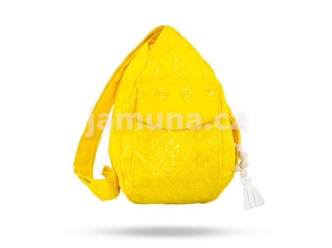 Dámský žlutý pytlík hlavní