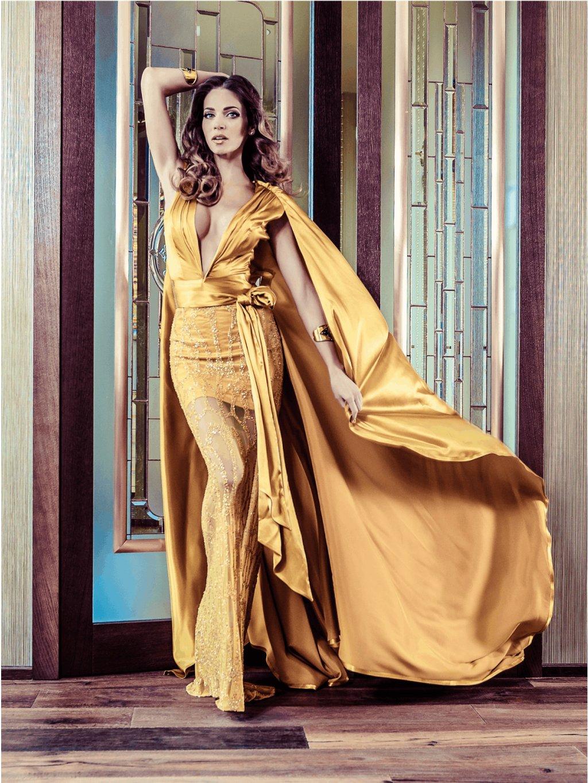 Róba hodváb žlto horčicové šaty
