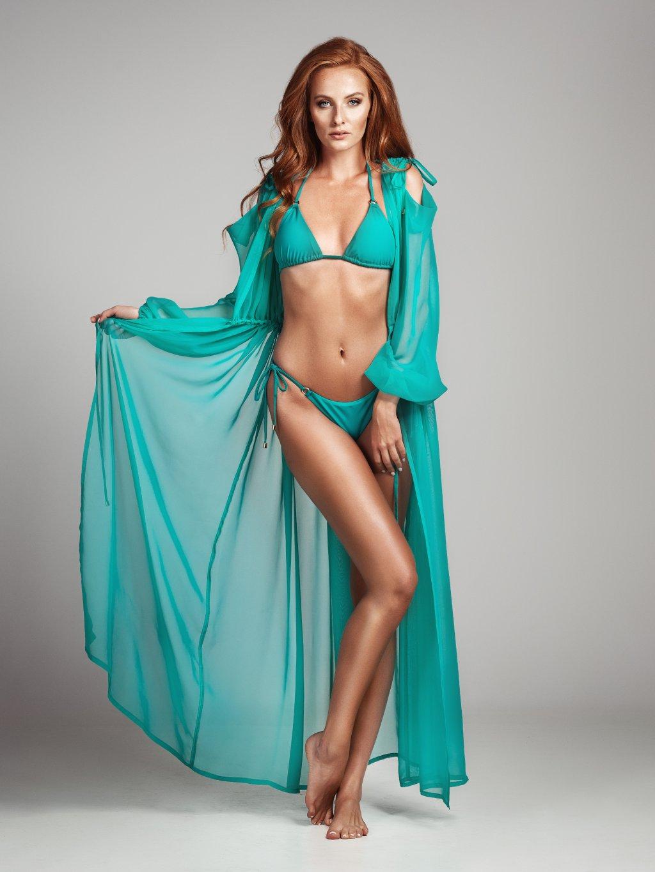 Jade Green plážové šaty