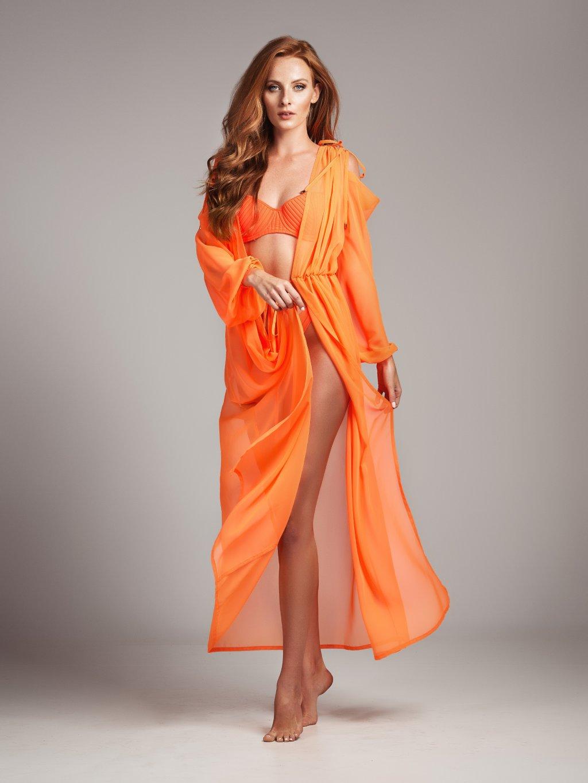 Antika plážové šaty Fluorescent Orange